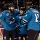 Brent Burns, Joe Pavelski et Joe Thornton