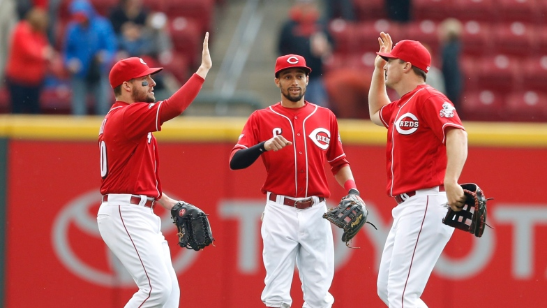 Alex Holt, Billy Hamilton et Jay Bruce