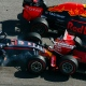 Daniil Kvyat et Sebastian Vettel
