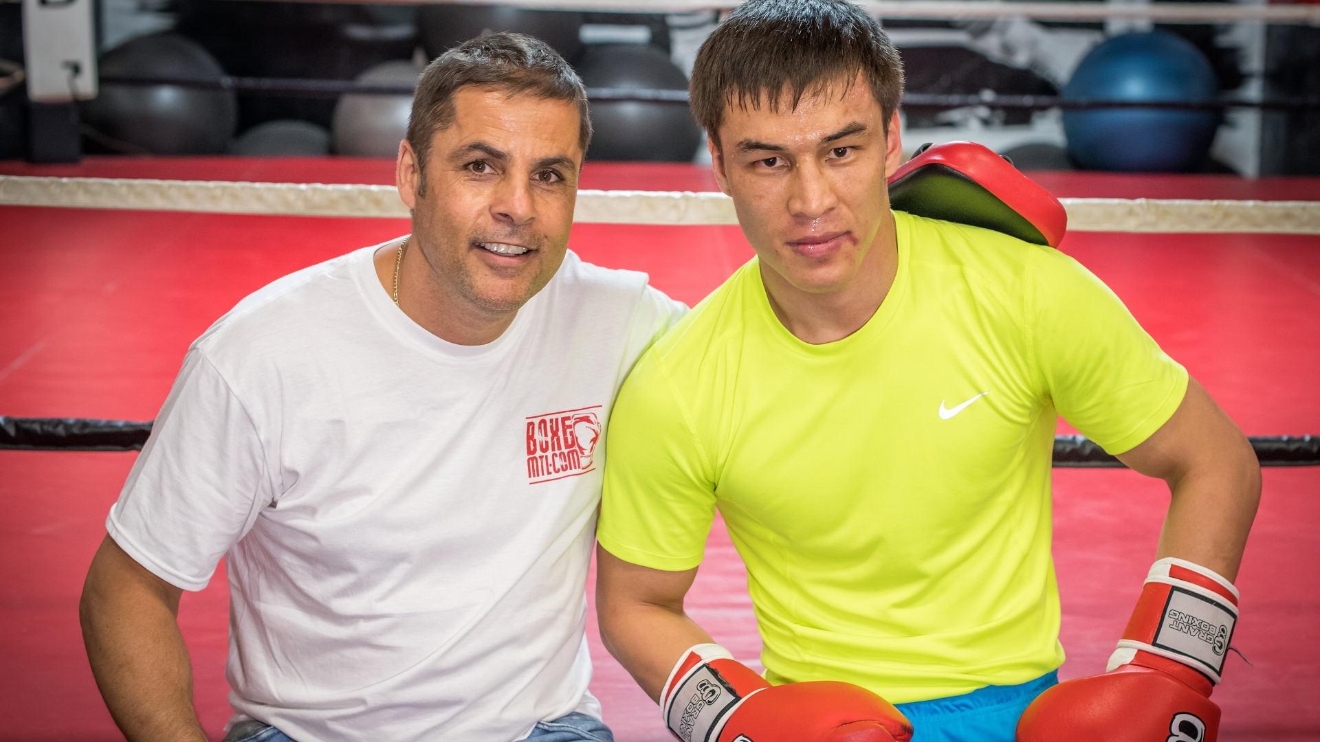 Stéphane Larouche et Batyr Jukembayev