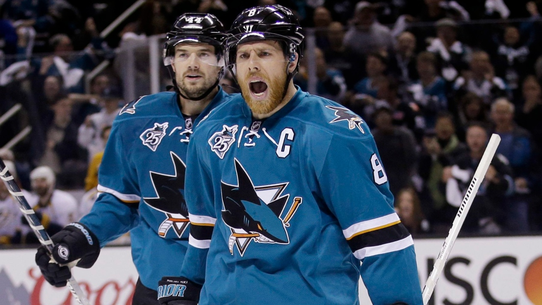 Marc-Édouard Vlasic et Joe Pavelski