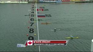 Katie Vincent gagne l'or au 200 mètres