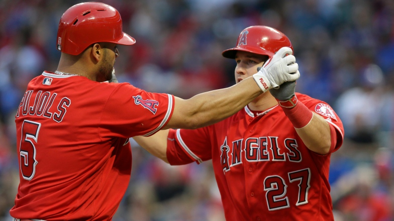 Albert Pujols et Mike Trout
