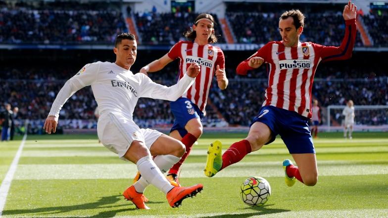 Cristiano Ronaldo et Diego Godin