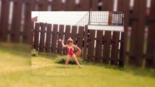Une sportive dès son plus jeune âge