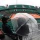 Tout le programme de lundi a été reporté en raison de la pluie à Roland-Garros