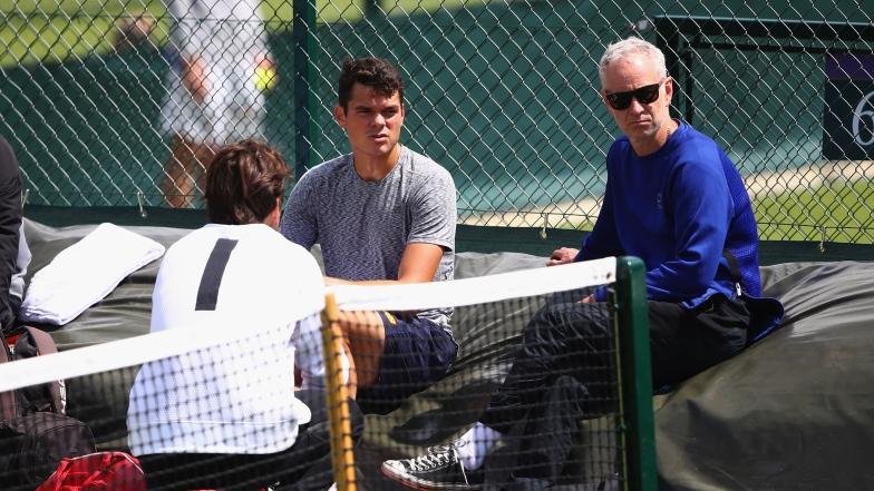 Milos Raonic et John McEnroe