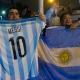 Des partisans de Lionel Messi