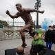 La statue de Lionel Messi à Buenos Aires