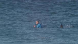 Fanning de retour sur les lieux de l'attaque de requin