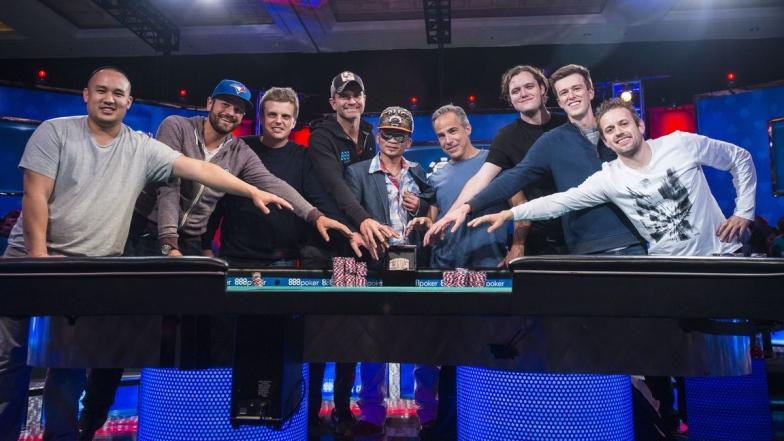 La table finale des WSOP 2016