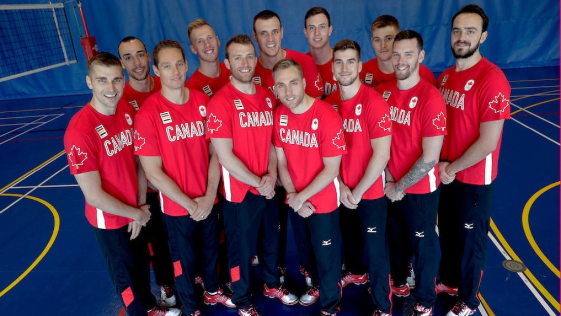 L'équipe canadienne masculine de volleyball pour Rio 2016
