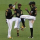 Starling Marte, Andrew McCutchen et Gregory Polanco