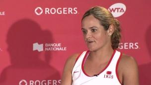 « Je suis heureuse d'être à la Coupe Rogers »