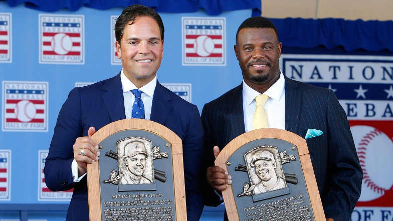 Mike Piazza et Ken Griffey Jr.
