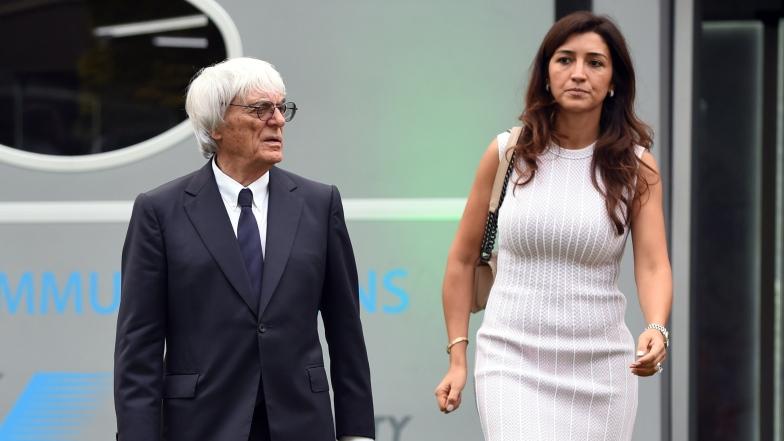 Bernie Ecclestone et son épouse Fabiana Flosi.