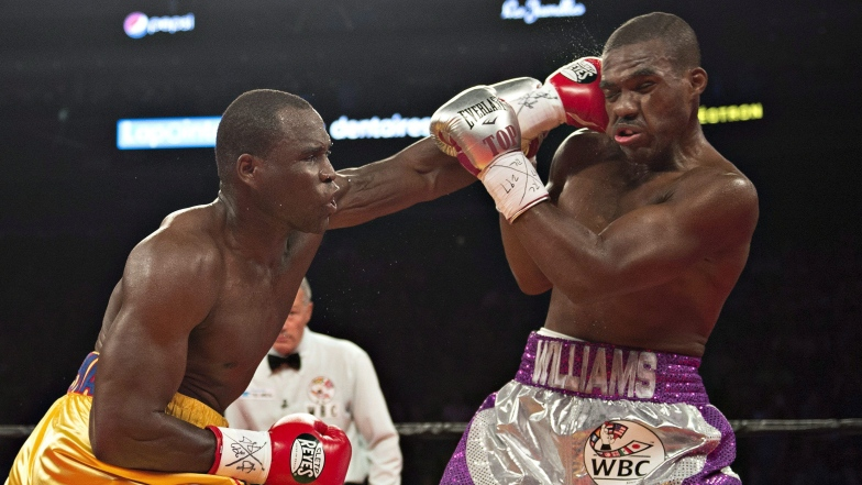 Adonis Stevenson et Thomas Williams fils