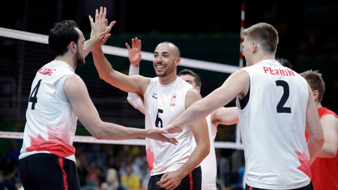 L'équipe canadienne de volleyball