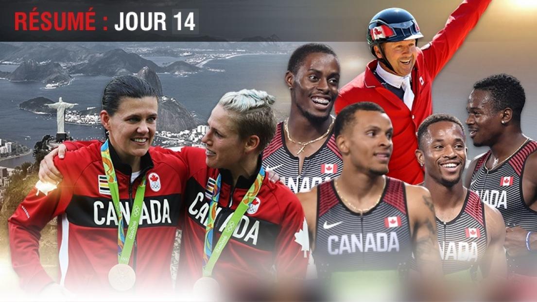 Christine Sinclair, Sophie Schmidt, le relais canadien 4 x 100 m, Eric Lamaze