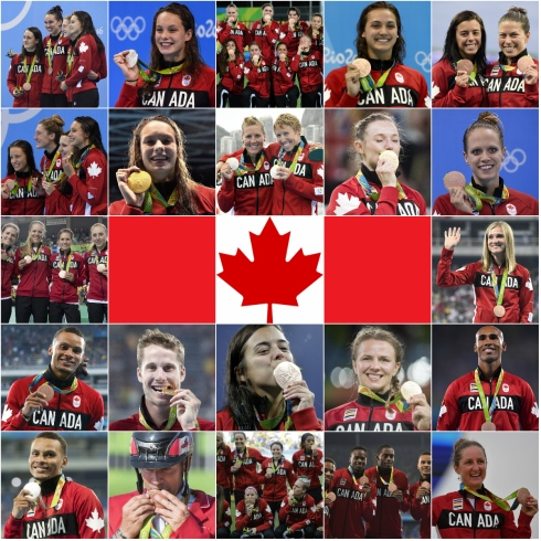 Les 22 médailles récoltées par le Canada à Rio
