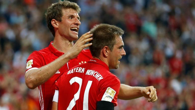 Thomas Mueller et Philipp Lahm