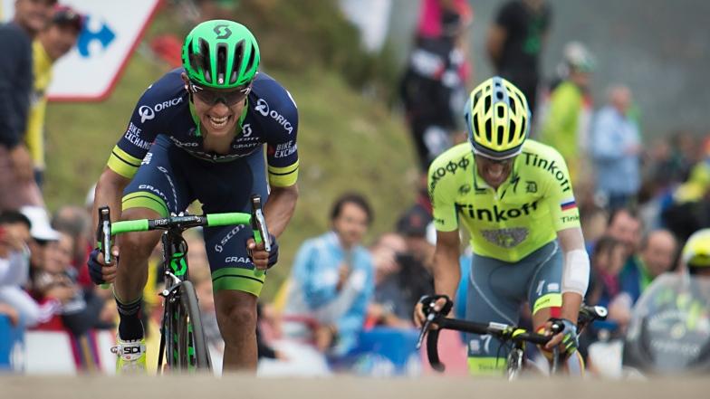 Esteban Chaves et Alberto Contador