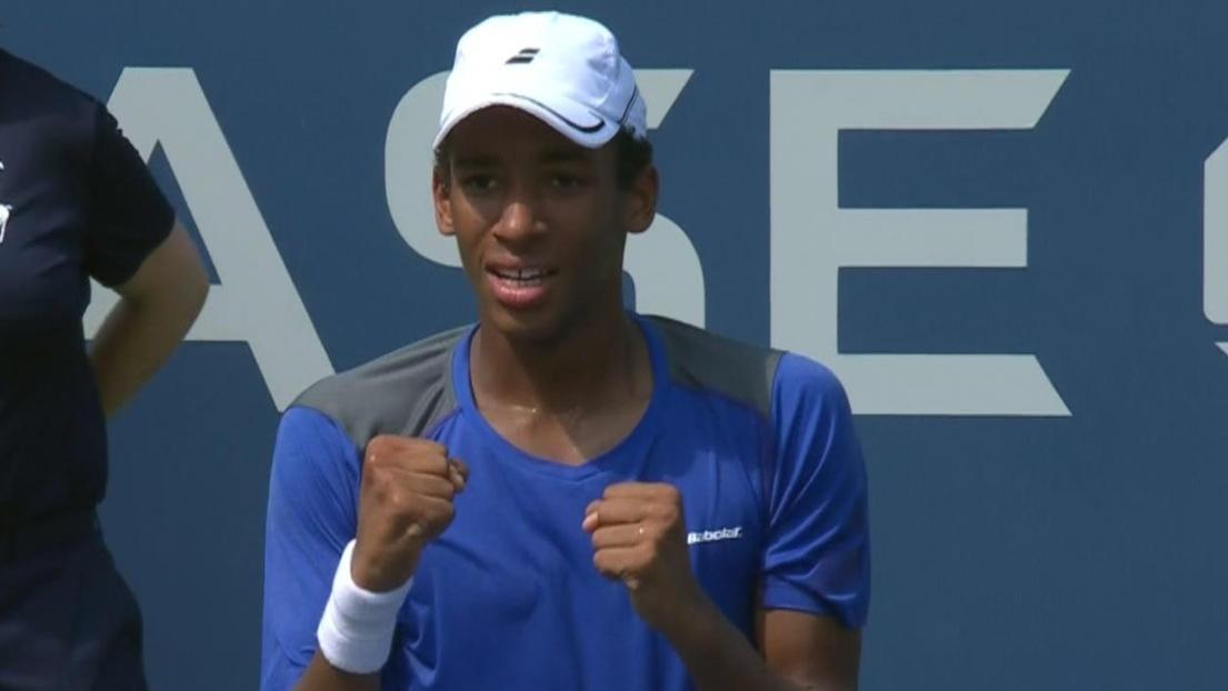 Le jeune Canadien Auger-Aliassime remporte l'Open Sopra Steria — Tennis