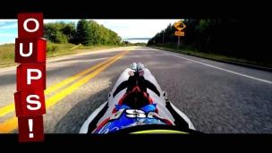 Oups! 160 km/h en luge de rue