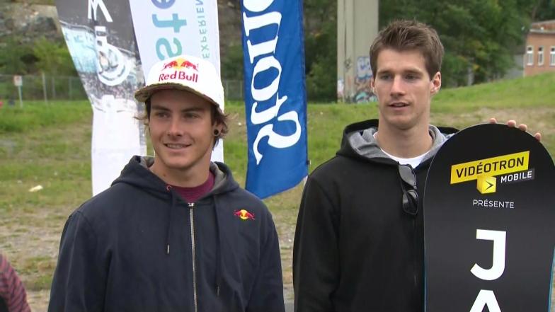 Surf des neiges : Une saison particulière importante pour Sébastien Toutant et Maxence Parrot