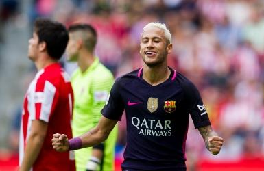 Neymar prend charge en l'absence de Messi