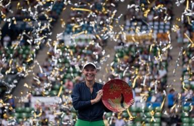 WTA : Wozniacki soulève le trophée à Tokyo