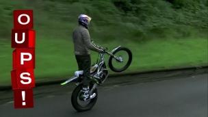 """Oups! Un """"wheelie"""" sur 59 kilomètres"""