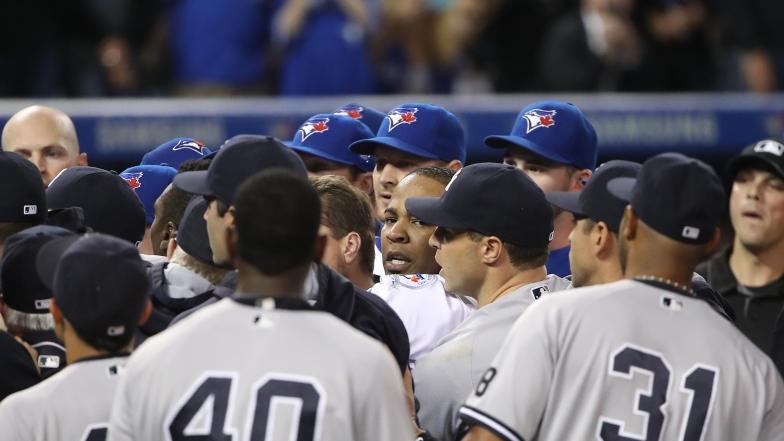 Mêlée entre les blue Jays et les Yankees