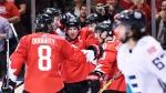 Le Canada enlève la première manche
