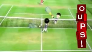 Oups! L'échange le plus intense à Wii Tennis