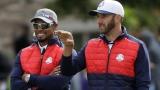 Tiger Woods et Dustin Johnson