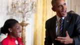 Barack Obama et la gymnaste Simone Biles