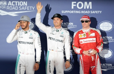 F1 : Rosberg devance Hamilton de justesse