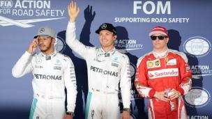 Rosberg tout juste devant Hamilton