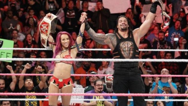 Roman Reigns et Sasha Banks