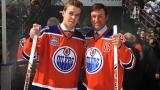 Connor McDavid et Wayne Gretzky