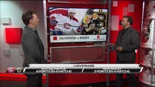 L'adversaire : les Bruins de Boston