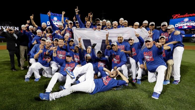 Les Cubs célèbrent leur championnat de la Ligue nationale