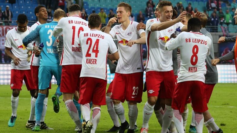 Leipzig célèbre sa victoire aux dépens du Werder Brême