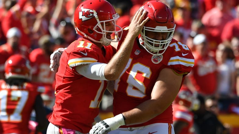 Alex Smith et Laurent Duvernay-Tardif