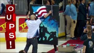 Oups! Une peinture et l'hymne national