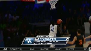 Wenyen Gabriel complète un spectaculaire dunk !