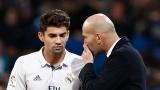 Enzo Zidane avec son père et entraîneur