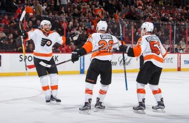 Claude Giroux donne la victoire aux Flyers