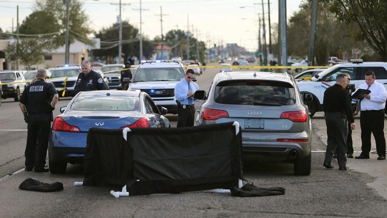 La scène où s'est déroulé l'assassinat de Joe McKnight, en Lousiane